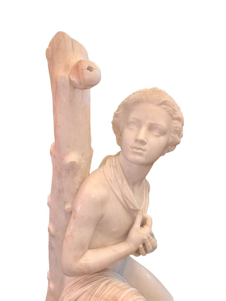 Large marble figure by Romanelli - 'The Son of Willaim Tell'