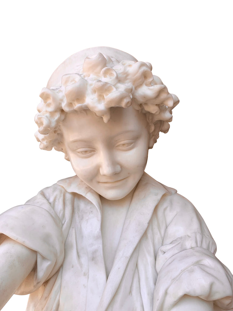 Large Italian Carrera Marble figure by Lot Torelli
