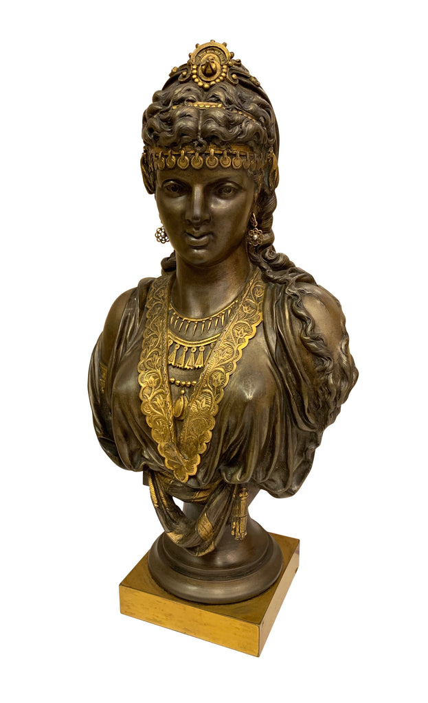 Pair of 19th century orientalist bronze busts