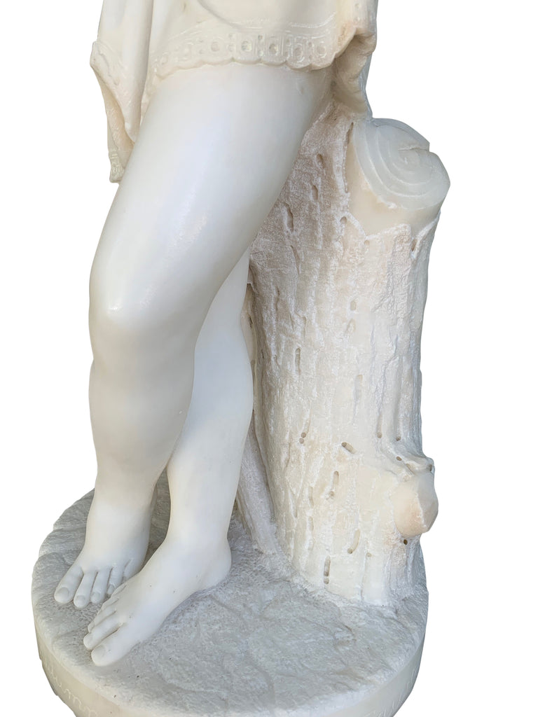 Marble figure 'Autumn' by Biggi Fausto