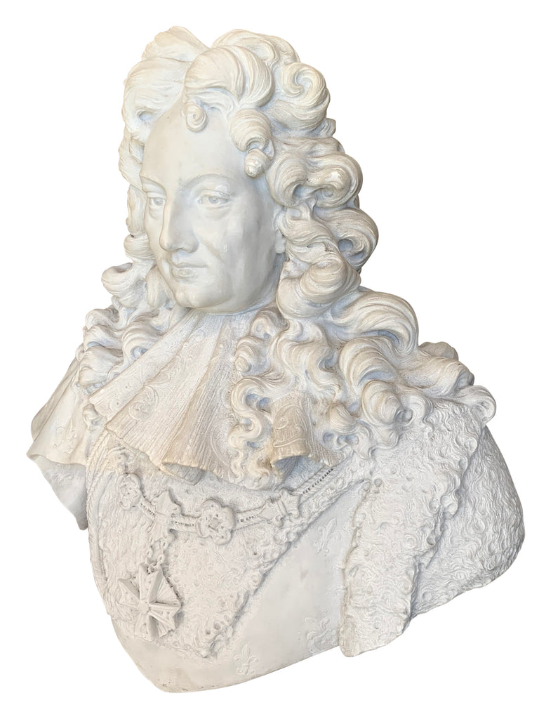 Antique French marble bust of a man