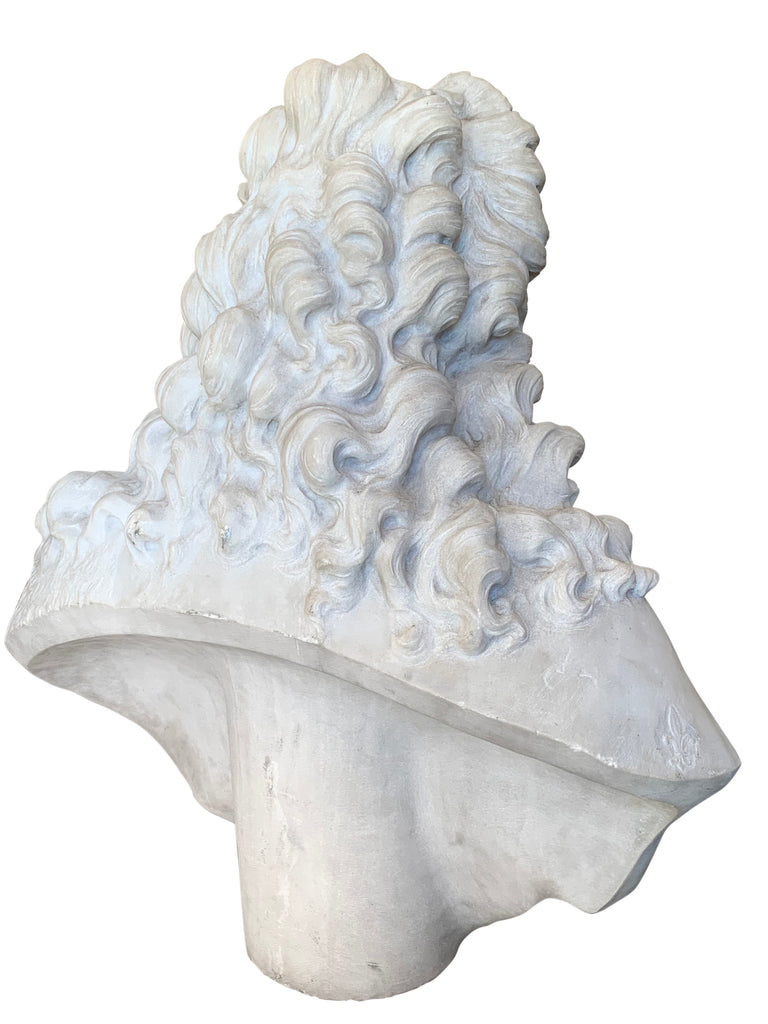 Large Antique French marble bust of a man