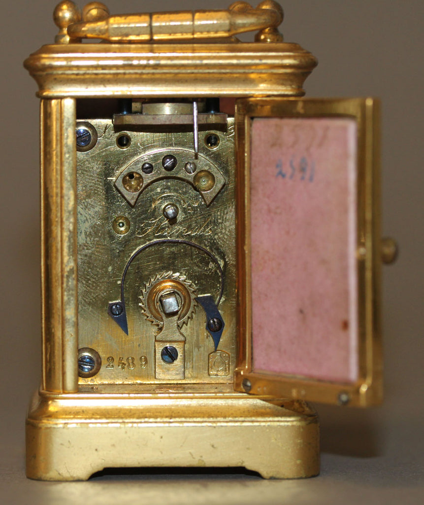 A French Louis XV Style Gilt Bronze & Ceramic Desk Clock