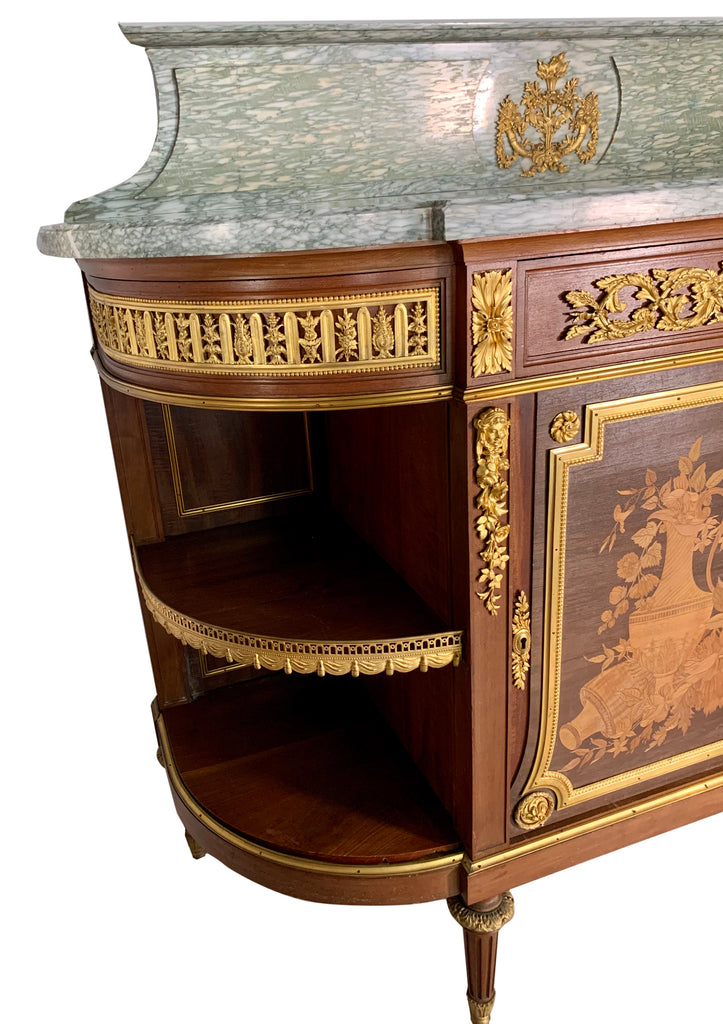 Antique French ormolu mounted mahogany console / desserte
