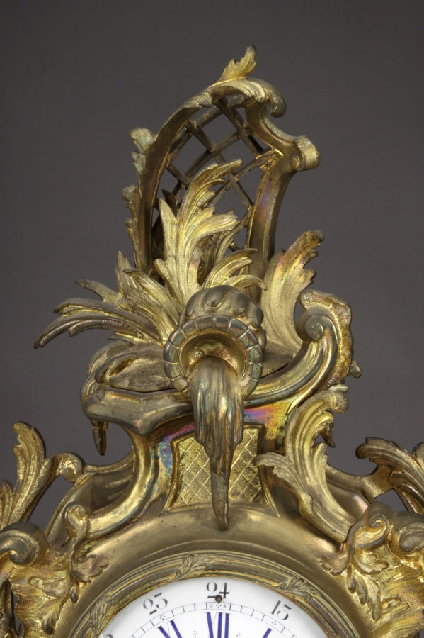 A Fine 19th Century Belgian Gilt Bronze Mantel Clock