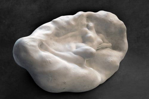 French Art Nouveau Marble Figure of a Nude by Theodore Riviere