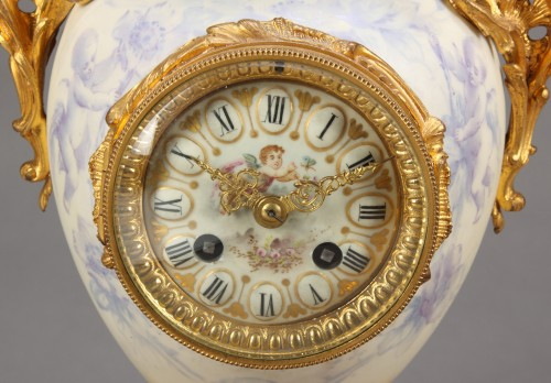 19th century Sevres style Figural Garniture Clock Set