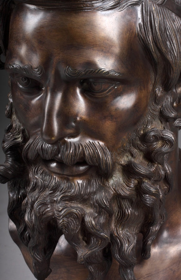 An Italian Bronze Bust of Il Filosofo after Vincenzo Gemito