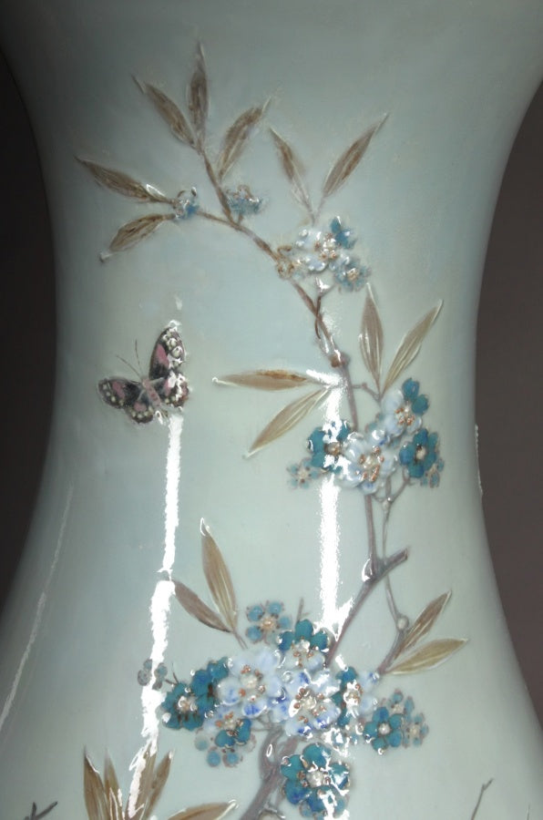 Monumental French Sevres Pate-Sur-Pate porcelain Vase by Leopold-Jules Joseph Gely.