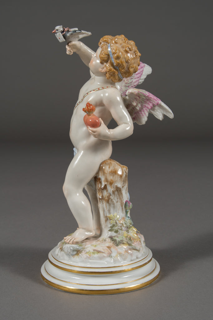 A Meissen Porcelain Figure of Cupid by Heinrich Schwabe