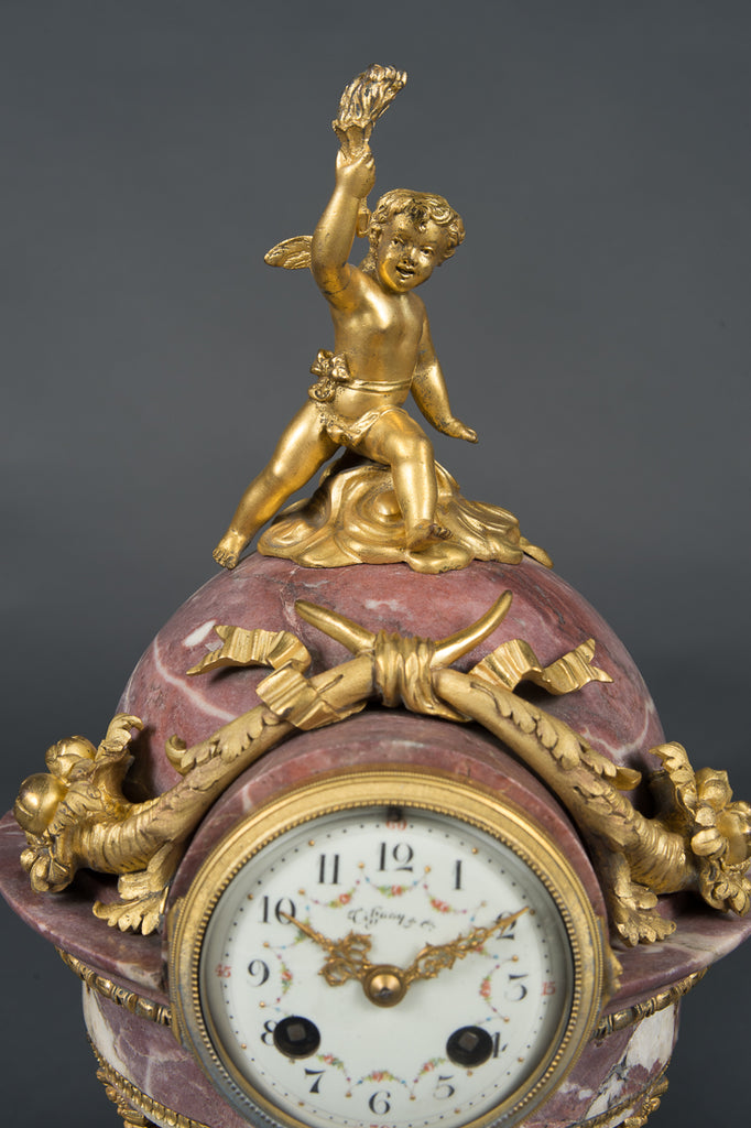 Tiffany & Co. Ormolu & marble Clock set