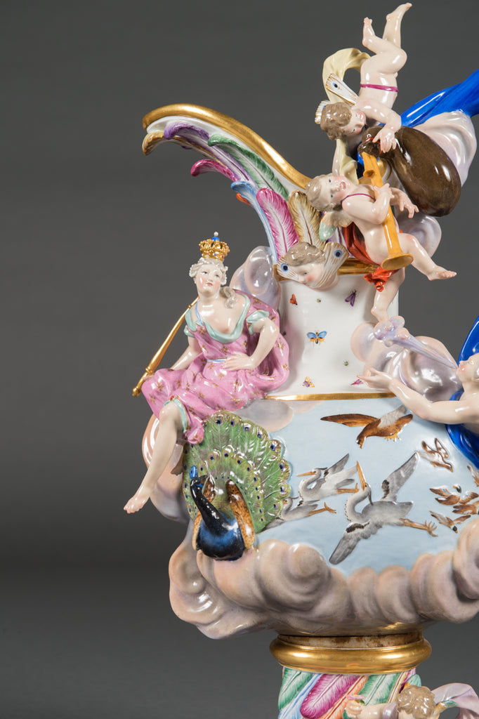 A Meissen 'Elements' Ewer Emblematic of Air, Circa 1880