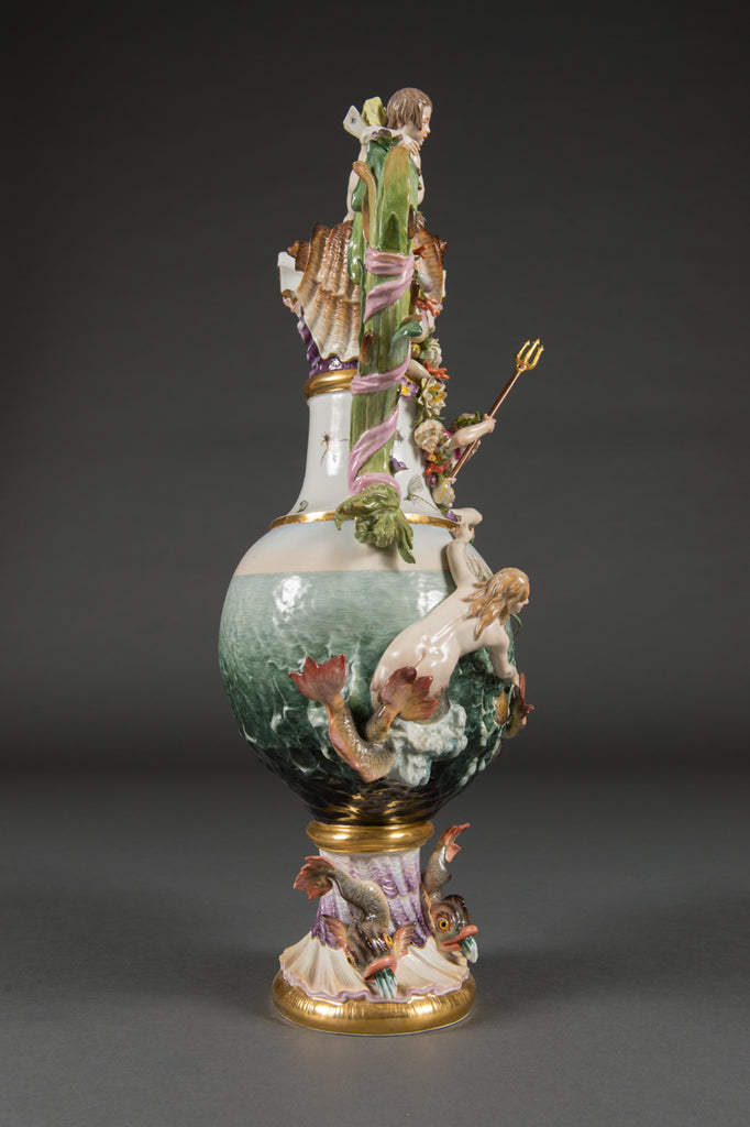 A Meissen 'Elements' Ewer Emblematic of Water, Circa 1860