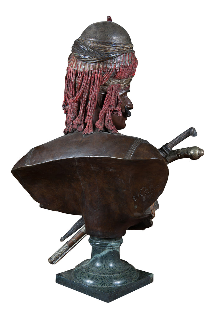 "A Bronze of ""Janissaire du Sultan Mahmoud II"" by Emile Guillemin"