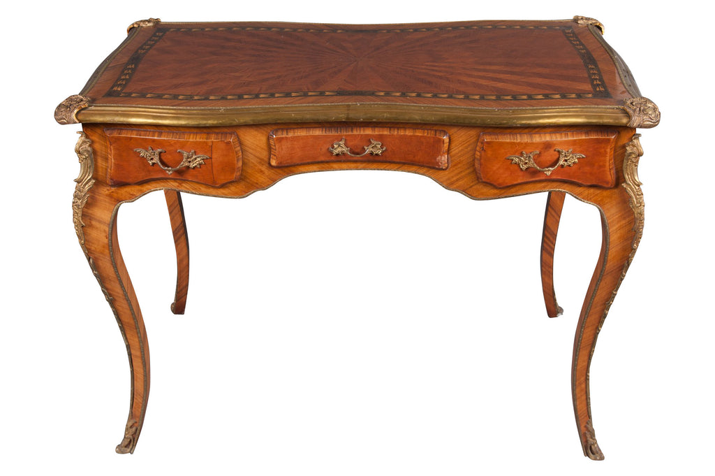 19th century French Louis XV style marquetry lady's desk