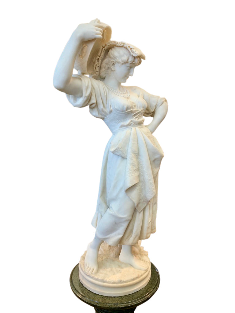 Marble figure of a lady by Andreoni