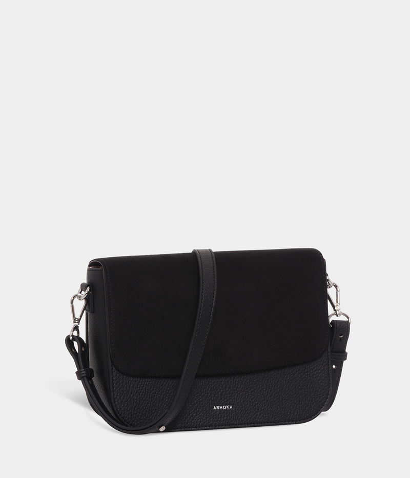 Sac Brigitte Oxymore Apple Skin grainé noir