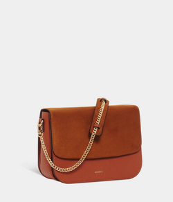 Sac Brigitte Oxymore Apple Skin grainé camel
