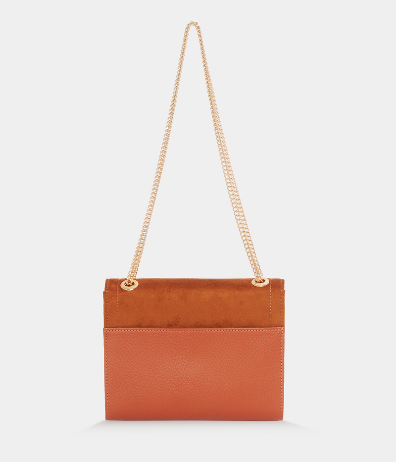 Sac vegan Mini Paname Oxymore Apple skin camel - clutch vegan et éthique - Ashoka Paris