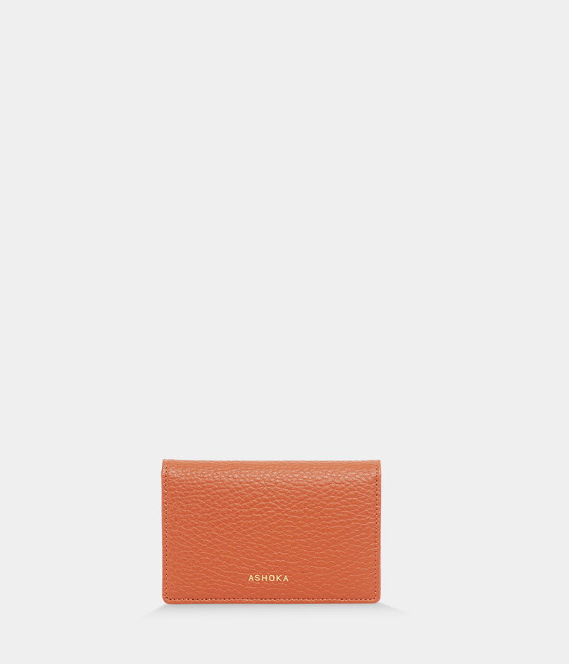 Porte-monnaie Apple Skin grainé camel