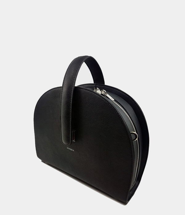 Sac Demi-lune Eclipse Apple Skin noir