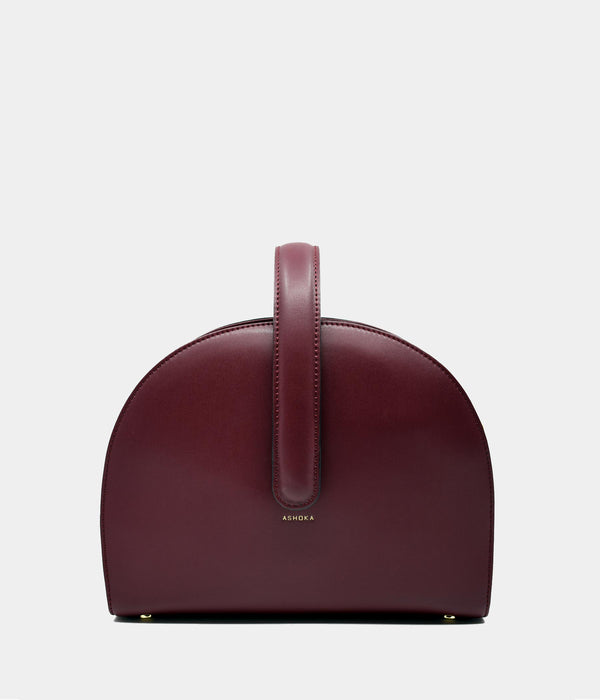 Sac Demi-lune Eclipse bordeaux