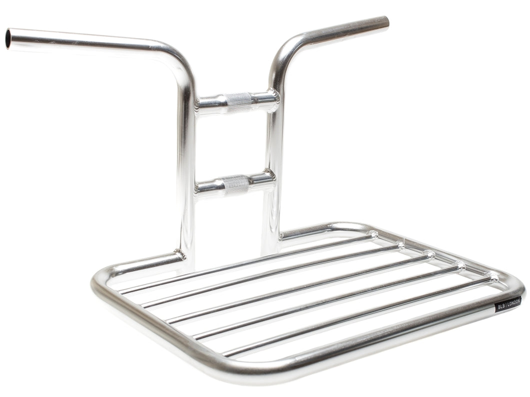 BLB FLAT RAT HANDLEBAR RACK - POLISHED SILVER