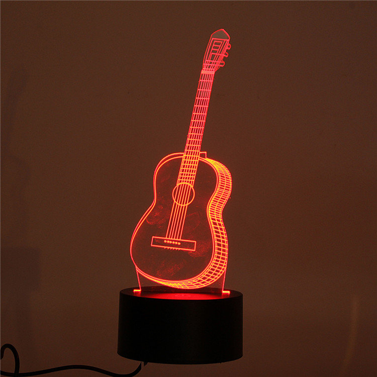 Decbest 3d guitar night light 7 color change led desk table lamp decbest 3d guitar night light 7 color change led desk table lamp gift bedroom home decor aloadofball Images