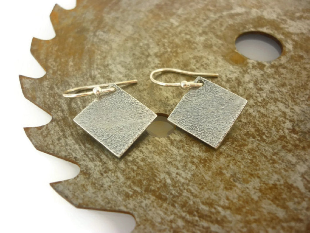 Mottled Square Pendant and Earring Set