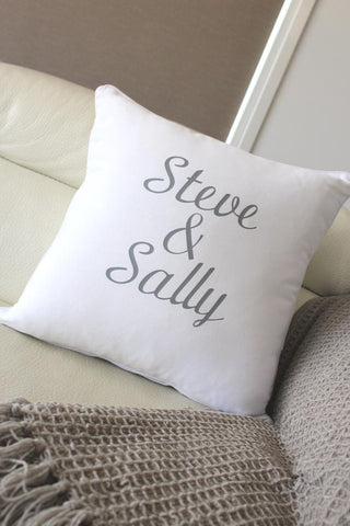 Anniversary Cushion - Steve & Sally