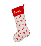 Personalised Christmas Stocking - Red Reindeer