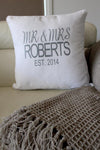 Anniversary Cushion - Mr and Mrs