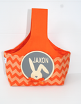 Easter Hunting Baskets - Orange Chevron