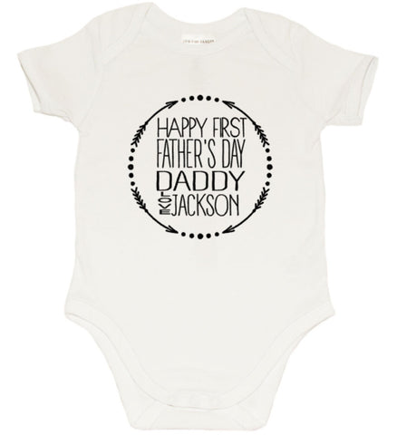 Fathers day Romper - Arrow Circle