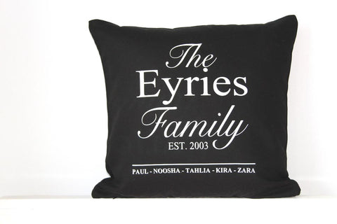 Anniversary Cushion - The Family