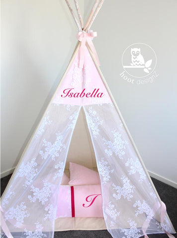 Royal Rose Lace and Baby Pink Teepee
