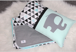 Triangle Geometric and Pastel Mint comforter set