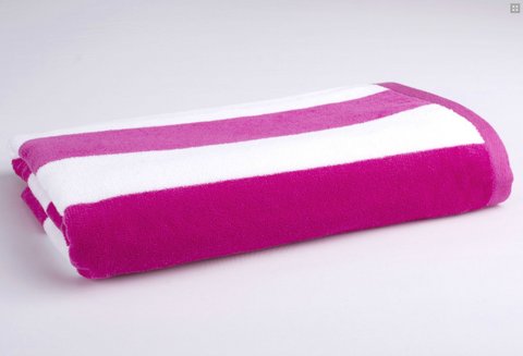 Personalised Beach Towel - Hot Pink