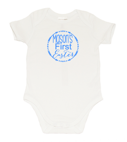 Easter Romper - Arrows Mason Blue