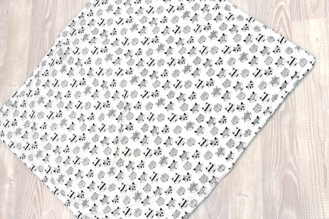 Black and White Tribal Animal  Square Play Mat - Hoot Designz