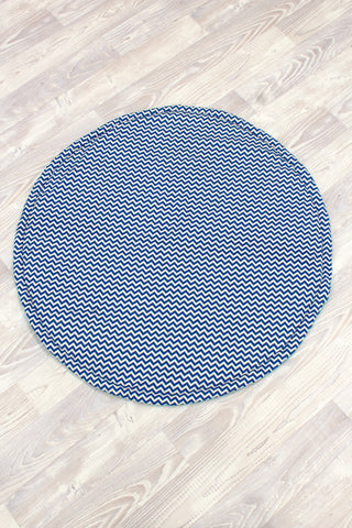 Blue Chevron Play Mat - Hoot Designz
