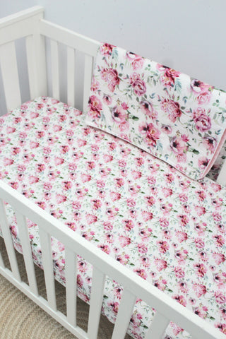 Peony Blossom Fitted Sheet