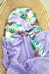 Tropical Orchid  Bassinet Blanket