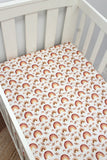 Rainbow Rust Fitted Sheet