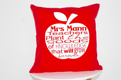 Teachers Cushions - Apple