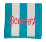Personalised Beach Towel - Red