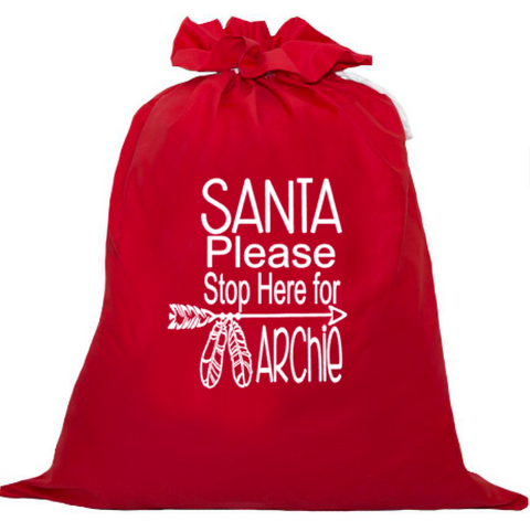Personalised Santa Sack - Boho Please stop here