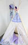 Boho Scallop and floral lace teepee