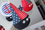 Musical Mobile-Sail Boat Navy Red & Navy