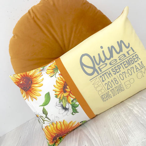 Sunflower Personalised Cushion